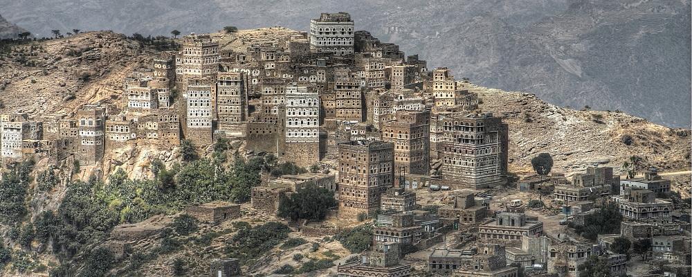 al hajjara view in the north of yemen