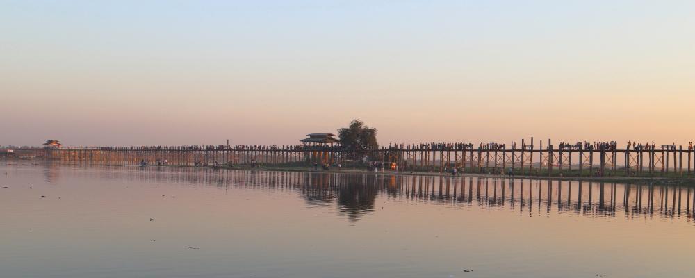 u bein bridge in amarapura myanmar