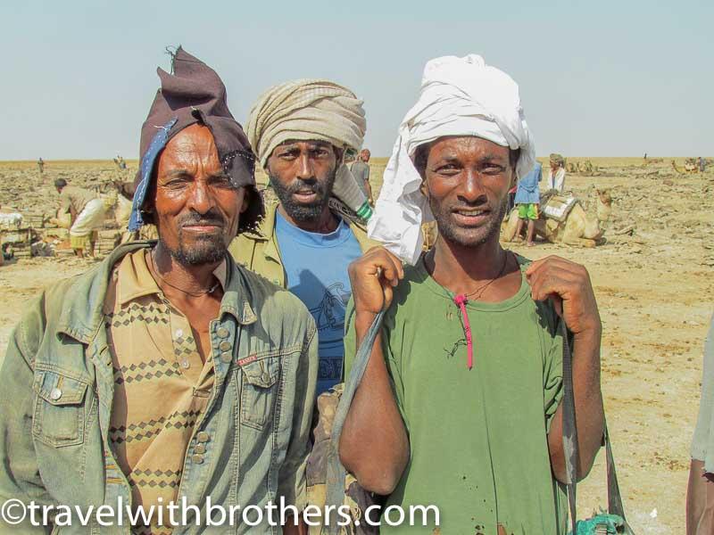 Salt workers, Dallol