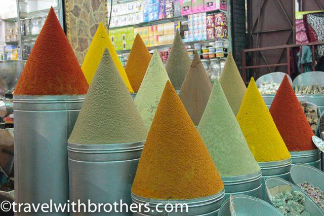Marrakech, Spices shop in the Mellah