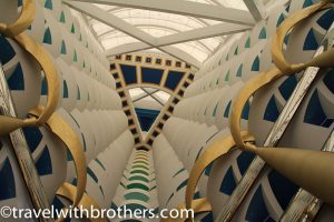 Interior of Burj al Arab hotel, Dubai