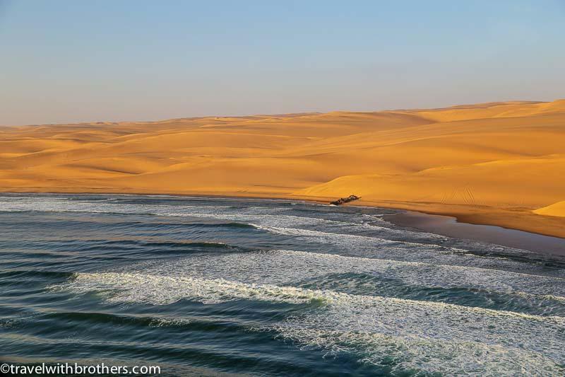 dunes ocean namib desert