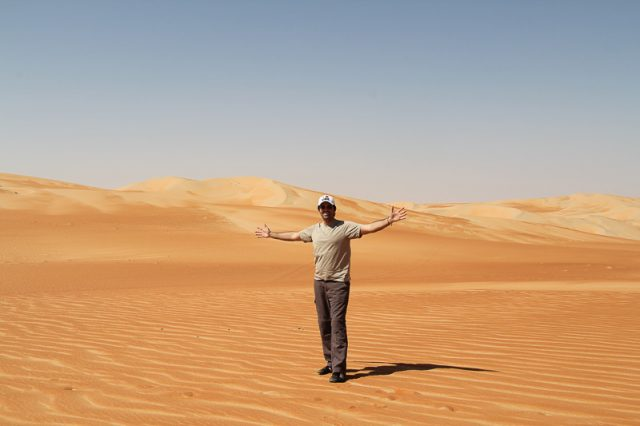 Road to Liwa Oasis, Uae desert