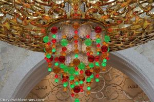 Krystal lamp inside the mosque