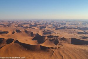 Namibia, Namib desert scenic flight - high golden dunes