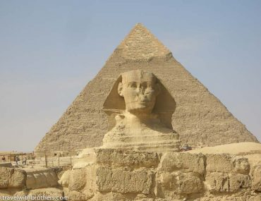 pyramid and sphinx view