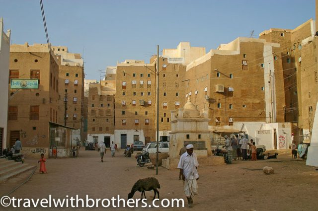 Yemen, main square of Shibam