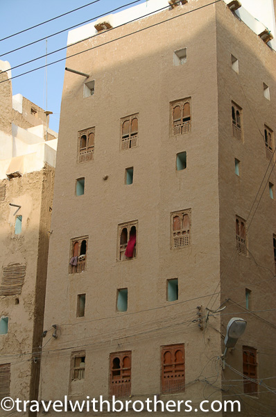 Yemen, high mud skyscraper in Shibam