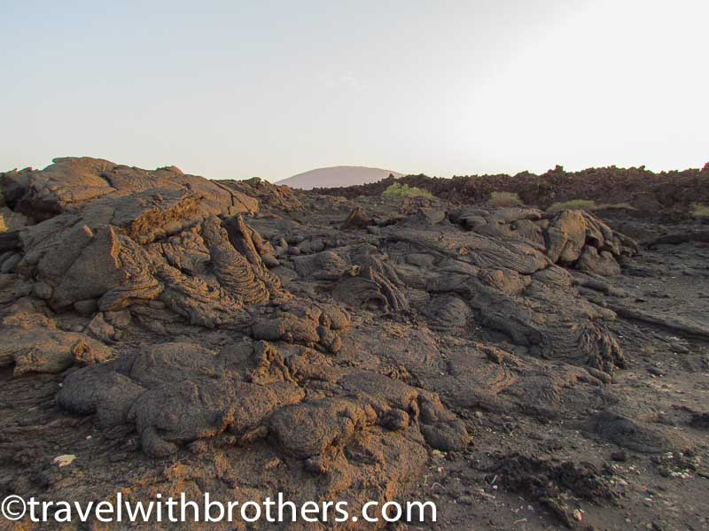 Solidified lava in Erta Ale, Ethiopia