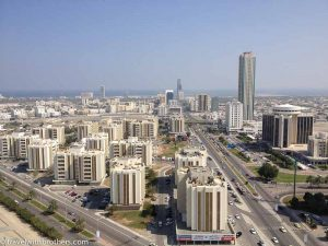 View of Fujairah city, U.A.E.