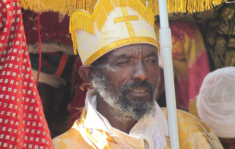 Lalibela, a priest in the procession