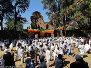 Ceremony in Gondar, Ethiopia
