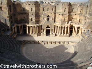 magnificent amphitheater in bosra