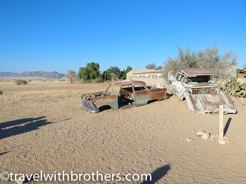 Namibia, i rottami di auto a Solitaire