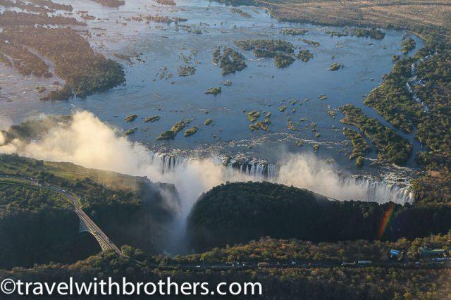 Zimbabwe, Victoria Falls aerial view
