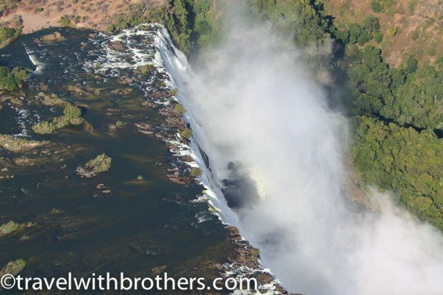 Zimbabwe, flying over the Falls