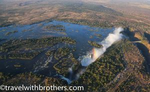 Zimbabwe, View on Victoria Falls from helicopter