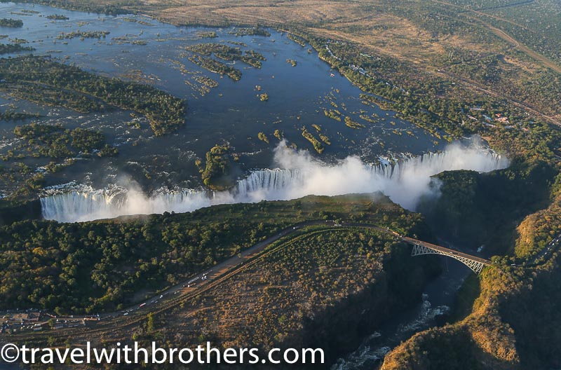 Zimbabwe, the impressive Victoria Falls from the sky