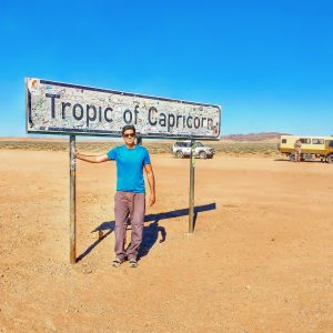 Namibia, Tropic of Capricorn sign