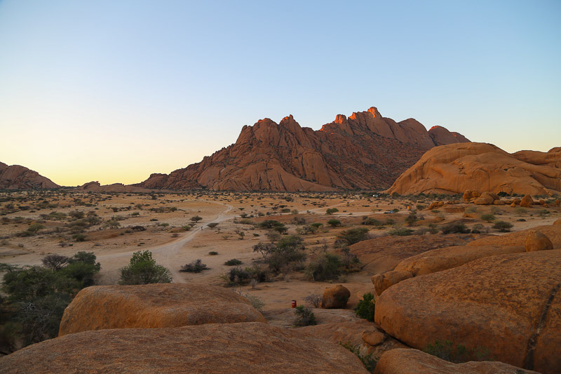 Namibia, sunset at Spitzkoppe