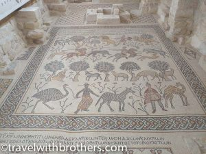 Mosaic inside the Mount Nebo Church , Jordan