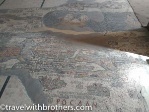 Holy Land Mosaic map at Greek Orthodox Church of St. George, Jordan