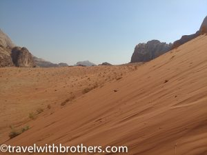 Jordan, the golden sand of Wadi Rum