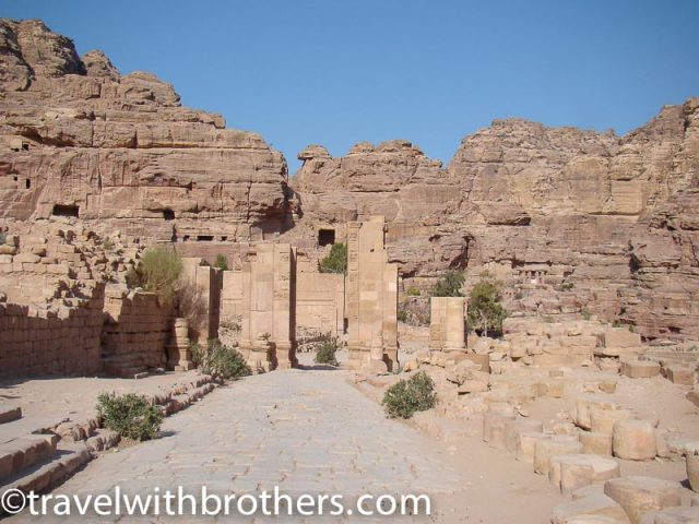 Petra, Colonnade street and Qasr al Bint Temple