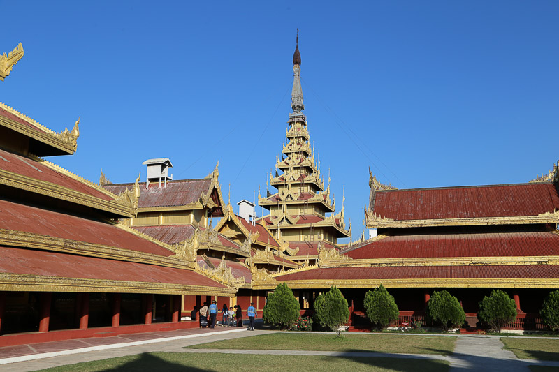 Mandalay, buildings of the Royal Palace