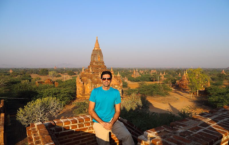 Bagan, temples view in New-bagan