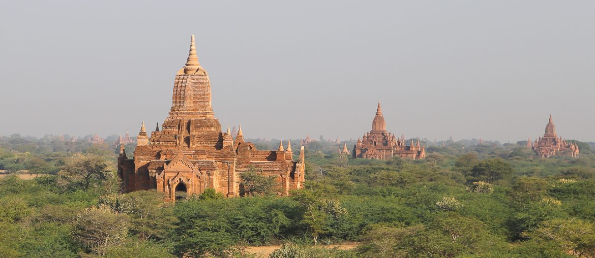 Myanmar, temples scattered on the Bagan plain