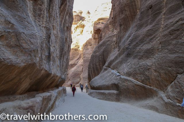 Petra, the narrow gorge of the Siq
