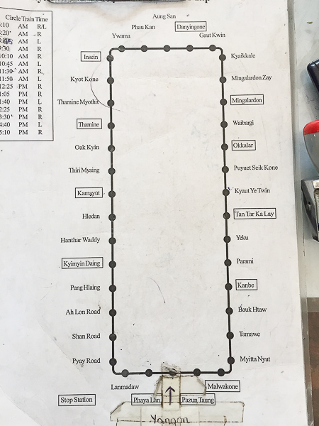 Circle line map