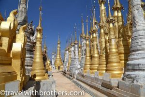 Myanmar, religious complex in Indein village