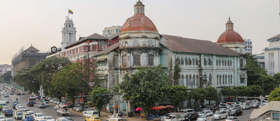 Yangon, old colonial building