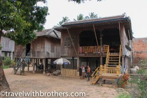 A village in the Kratie countryside, Cambodia
