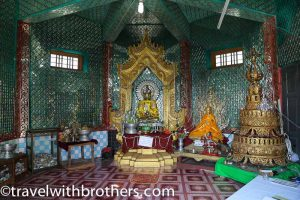 Myanmar, a shrine of the Popa Taungkalat monastery