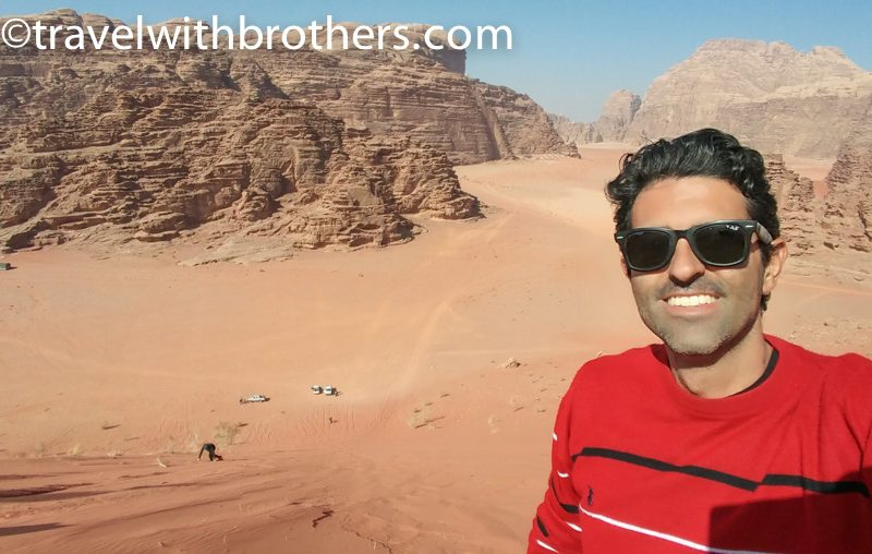 Wadi Rum, veduta dalla cima di una duna