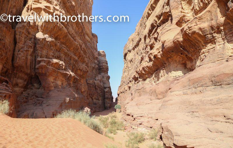 Wadi Rum, l'ingresso del Canyon di