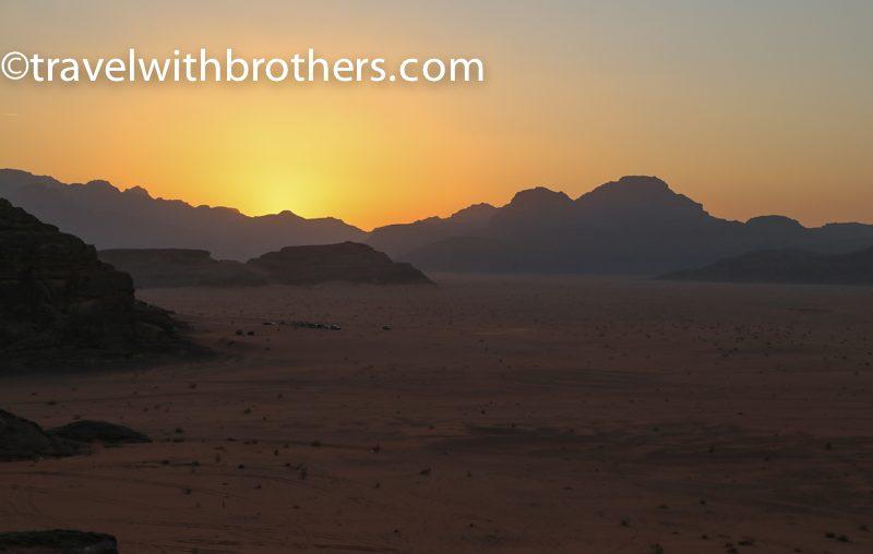 Wadi Rum, gli splendidi colori del tramonto