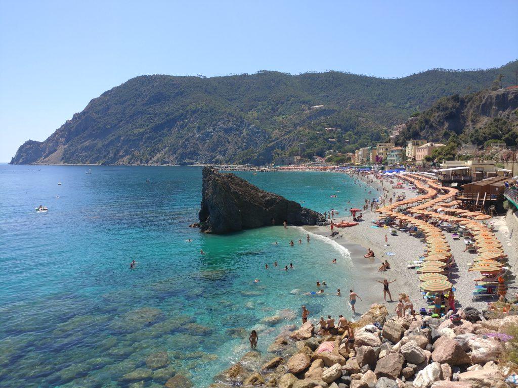 Cinque Terre, the bustling Monterosso beach