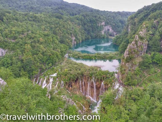 Plitvice lakes, viewpoint on the cascades at the edge of the Novakovica lake