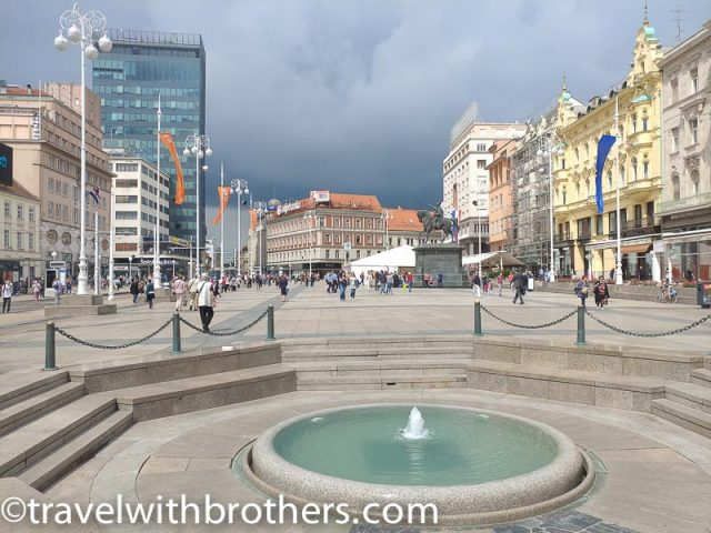 Zagreb, Ban Jelacic Square - On the left said the Zagreb 360° building