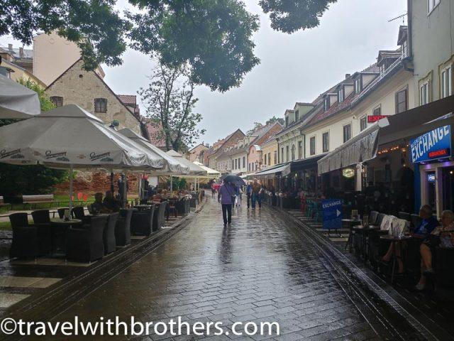 Zagreb, the vibrant Tkalciceva street