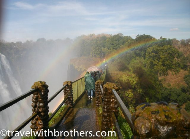 Zambia, Victoria Falls Knife edge bridge