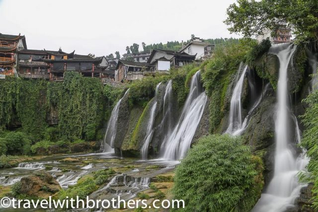 Furong town, the beauty of the Wangcun waterfall