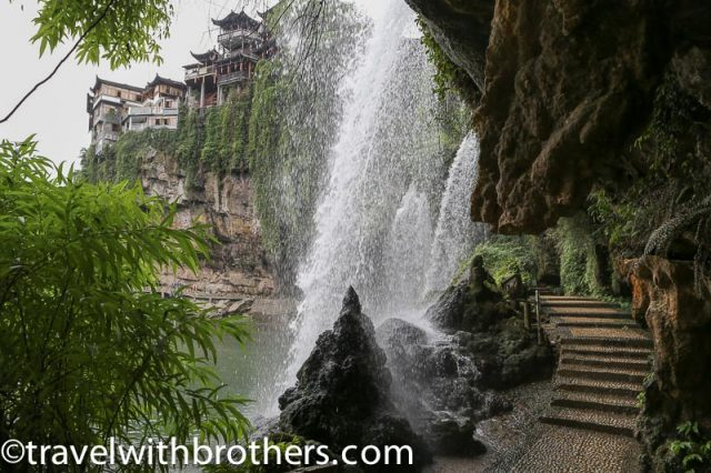 Furong town, the path below the waterfall