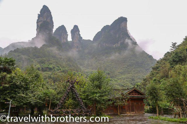 Hunan province, Karsk peaks in Dehang village surroundings