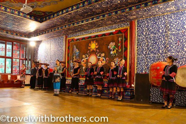 Hunan province, Miao dance in Dehang village