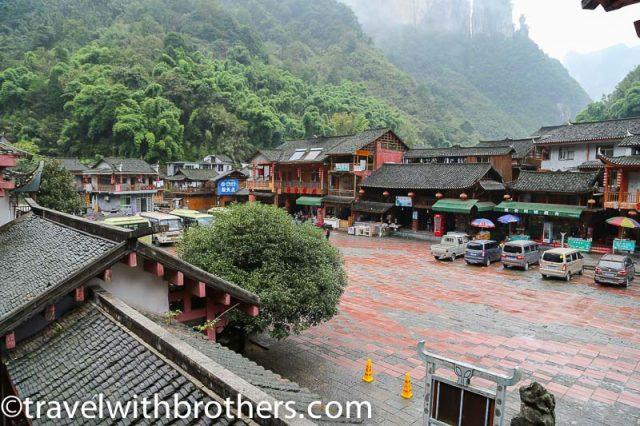 Hunan province, Dehang village square